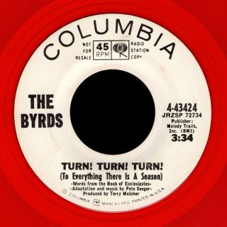Byrds Columbia 45 Turn Turn Turn WLP red vinyl