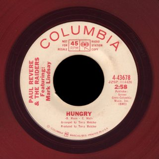 Paul Revere and the RaidersColumbia 45 Hungry red vinyl