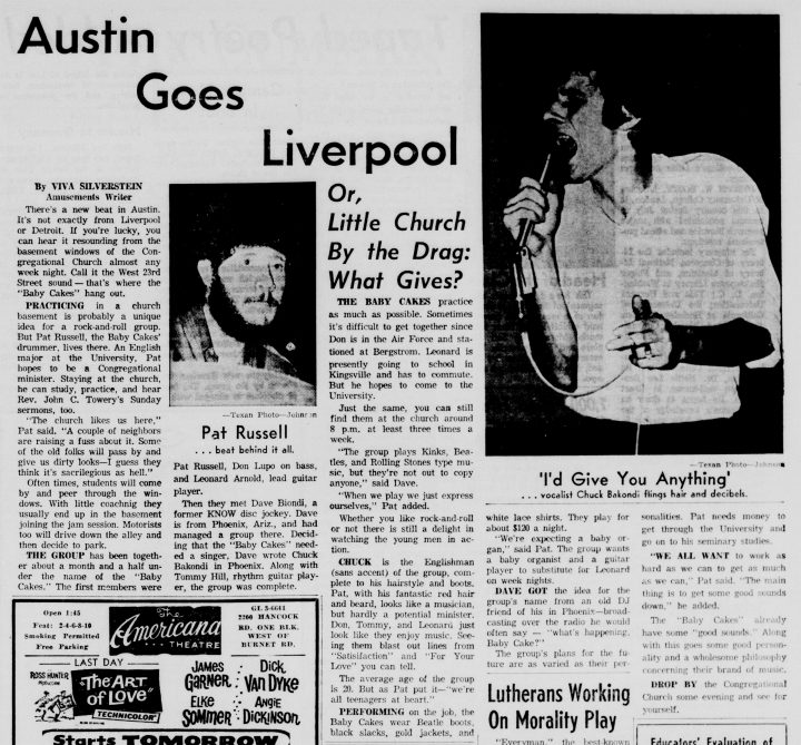 Baby Cakes, Austin-daily-texan, July 27, 1965