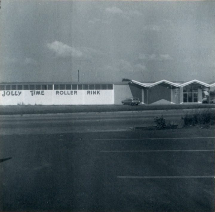 exterior of Jolly Time Roller Rink, 1001 Miller, Fort Worth