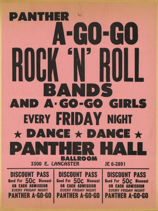 Panther A Go Go flyer