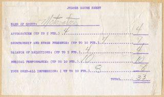 Battle of the Bands Motovators scores, July 25, 1965