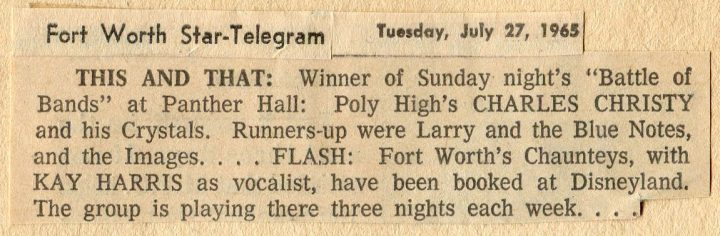 Battle of the Bands winners, July 25, 1965