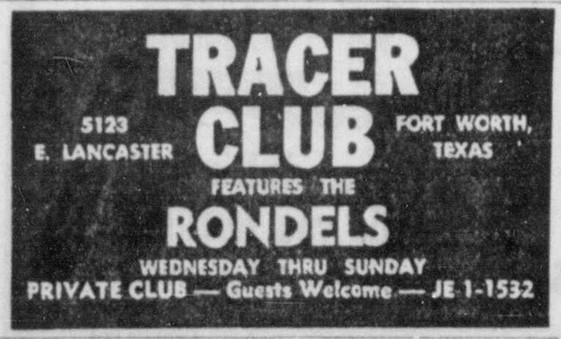 Rondels at the Tracer Club Denton Record Chronicle April 21, 1967