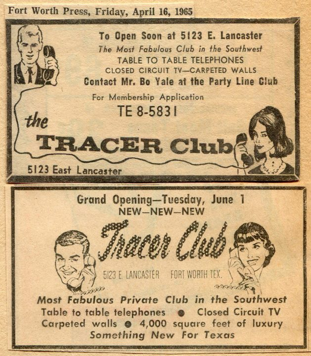 Tracer Club Fort Worth ads