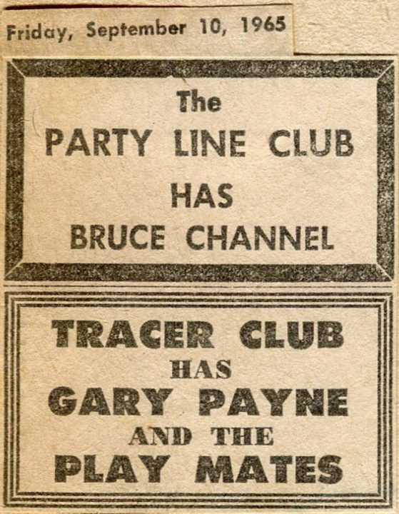 Tracer Club Gary Payne and the Play Mates Sept. 10, 1965