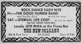 Good Humor Band Eternal Life Corp New Orleans Club Austin Daily Texan June 14, 1968