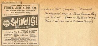 Motovators Shindig Will Rogers Auditorium, June 4, 1965