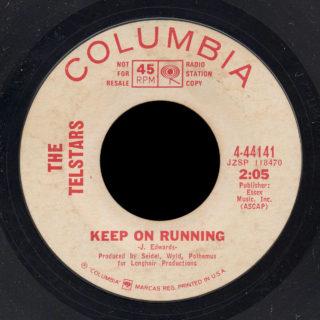 Telstars Columbia 45 Keep on Running